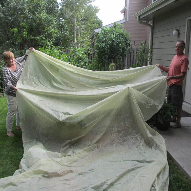 Garden Bed Cover protects large garden beds.