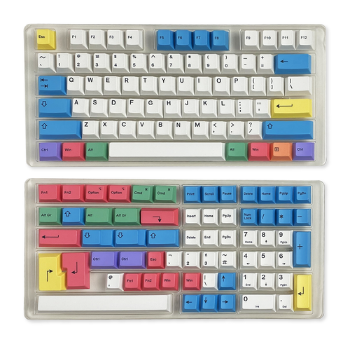 Dye Sublimation Thick PBT Keyset Chalk