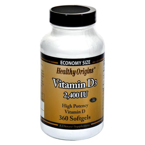 Healthy Origins Vitamin D3 - 2400 IU - 360 Softgels