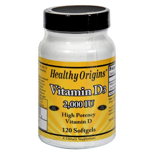 Healthy Origins Vitamin D3 - 2000 IU - 120 Softgels