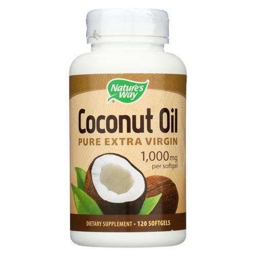 Nature's Way Coconut Oil - 1000 mg - 120 Softgels
