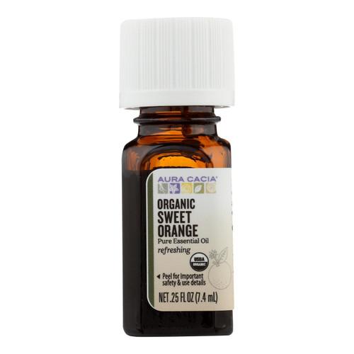 Aura Cacia Organic Orange Sweet - .25 oz