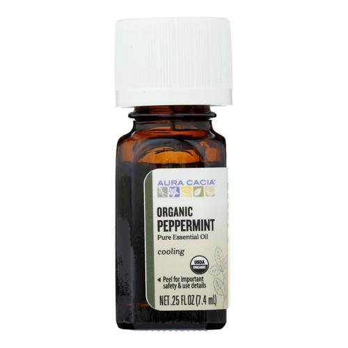 Aura Cacia Organic Peppermint - .25 oz