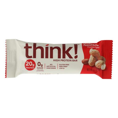 Think Products Thin Bar - Chunky Peanut Butter - Case of 10 - 2.1 oz on  Appalachian Organics