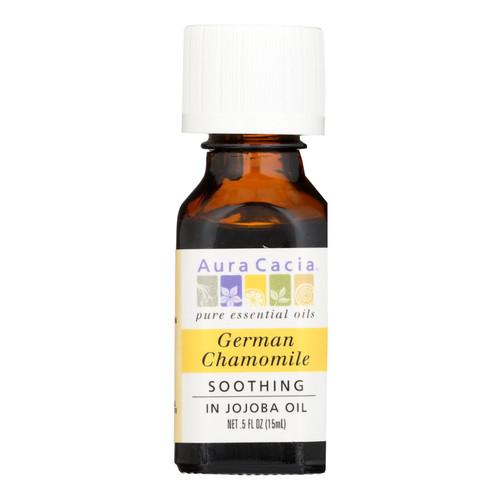 Aura Cacia German Chamomile in Jojoba Oil - 0.5 fl oz