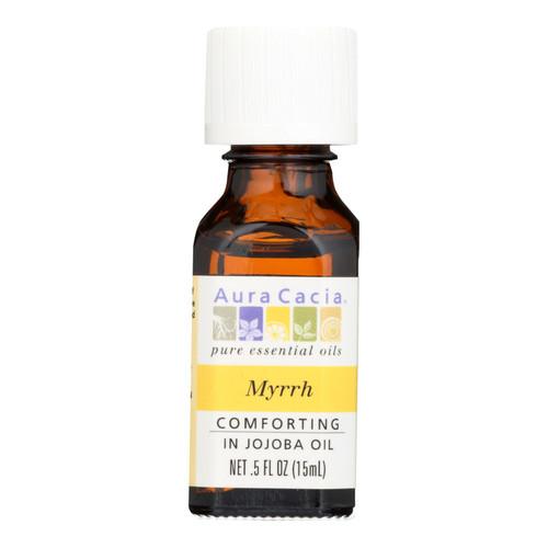 Aura Cacia Myrrh in Jojoba Oil - 0.5 fl oz