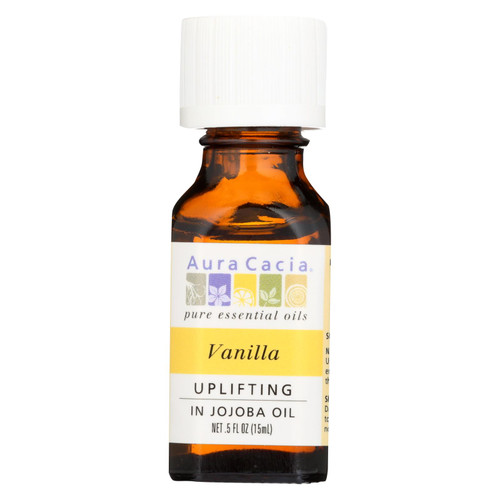 Aura Cacia Vanilla in Jojoba Oil - 0.5 fl oz