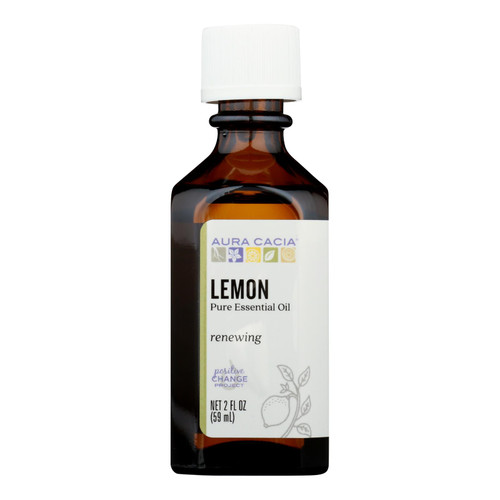 Aura Cacia Essential Oil - Lemon - 2 fl oz