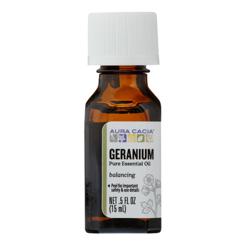 Aura Cacia Pure Essential Oil Geranium - 0.5 fl oz