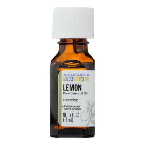Aura Cacia Essential Oil - Lemon - 0.5 fl oz
