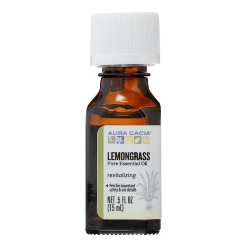 Aura Cacia Pure Essential Oil Lemongrass - 0.5 fl oz