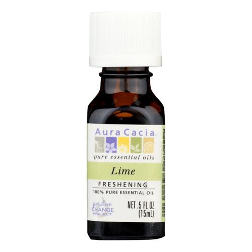 Aura Cacia Pure Essential Oil Lime - 0.5 fl oz