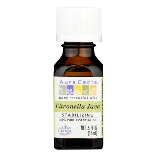 Aura Cacia Pure Essential Oil Citronella Java - 0.5 fl oz