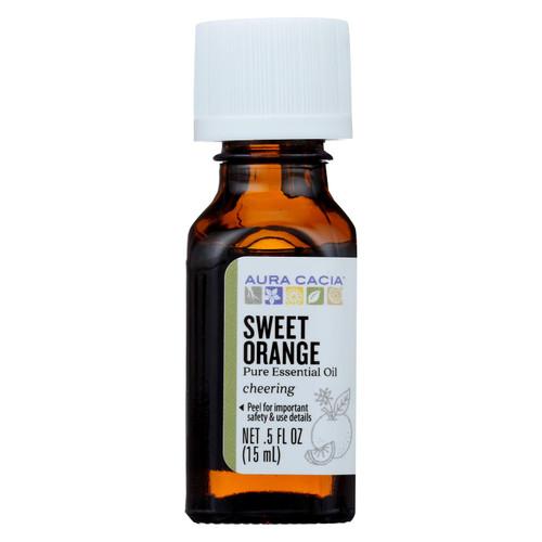 Aura Cacia Essential Oil Sweet Orange - 0.5 fl oz
