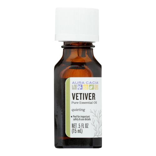 Aura Cacia Pure Essential Oil Vetiver - 0.5 fl oz