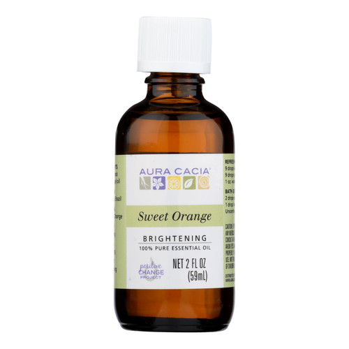 Aura Cacia Essential Oil - Brightening Sweet Orange - 2 oz
