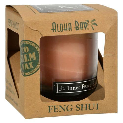 Aloha Bay Feng Shui Elements Palm Wax Candle - Earth/Inner Peace - 2.5 oz