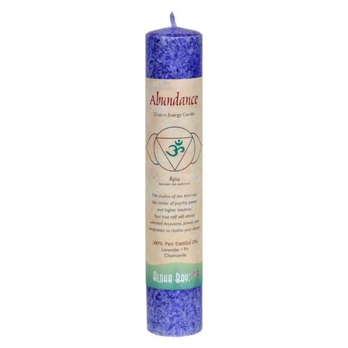 Aloha Bay Chakra Pillar Candle Abundance Indigo - 1 Candle