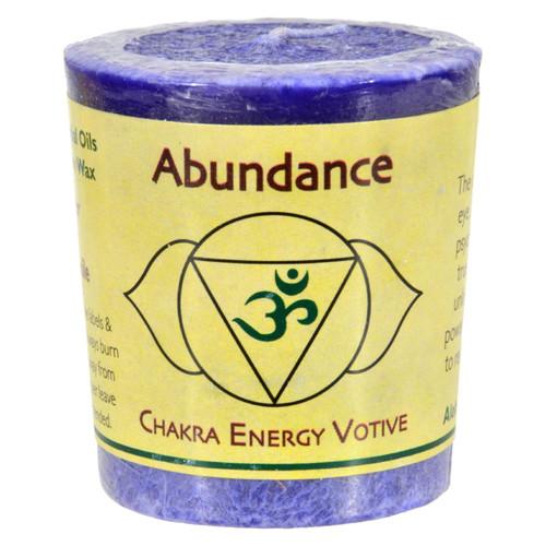 Aloha Bay Chakra Votive Candle - Abundance - Case of 12 - 2 oz