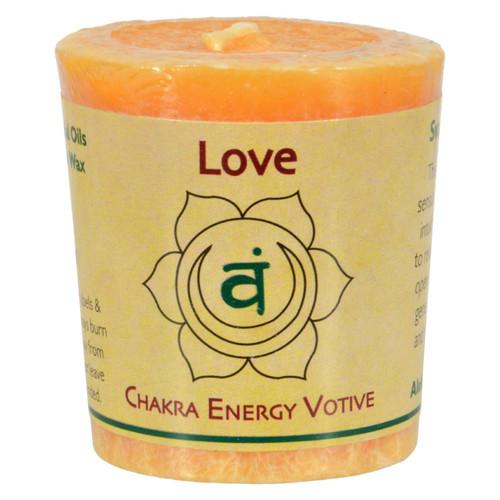 Aloha Bay Chakra Votive Canlde - Love - Case of 12 - 2 oz