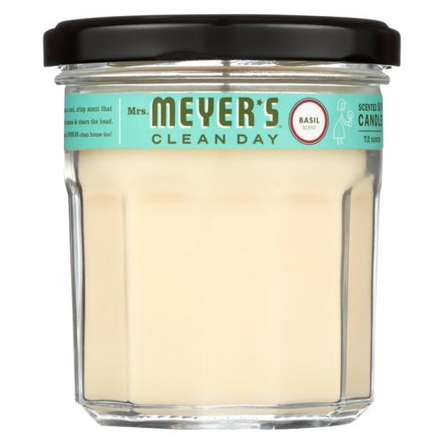 Mrs. Meyer's Soy Candle - Basil - 7.2 oz - Case of 6