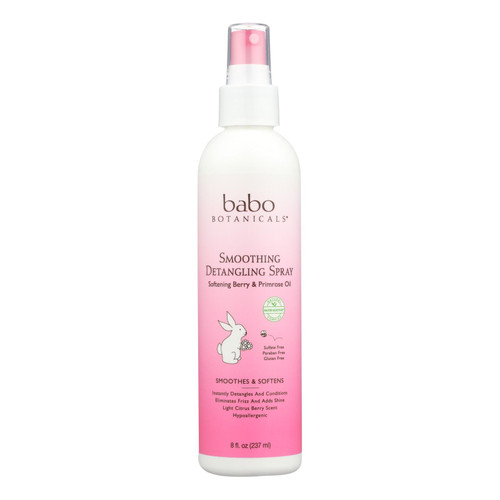 Babo Botanicals Instantly Smooth Detangler Berry Primrose - 8 fl oz