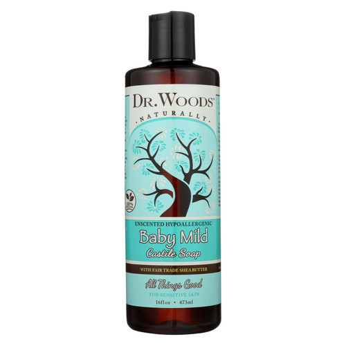 Dr. Woods Shea Vision Pure Castile Soap Baby Mild with Organic Shea Butter - 16 fl oz
