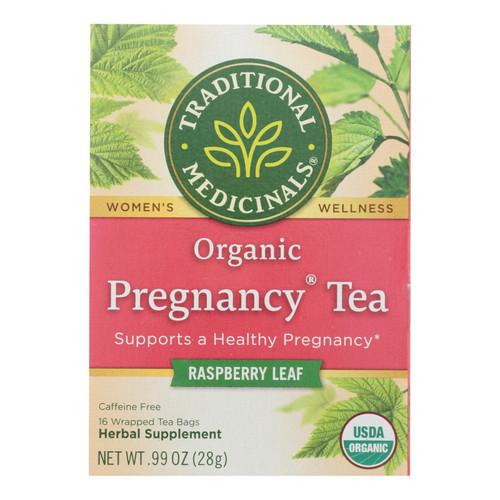 Traditional Medicinals Organic Pregnancy Herbal Tea - 16 Tea Bags - Case of 6