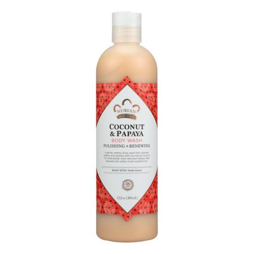 Nubian Heritage Body Wash Coconut And Papaya - 13 fl oz