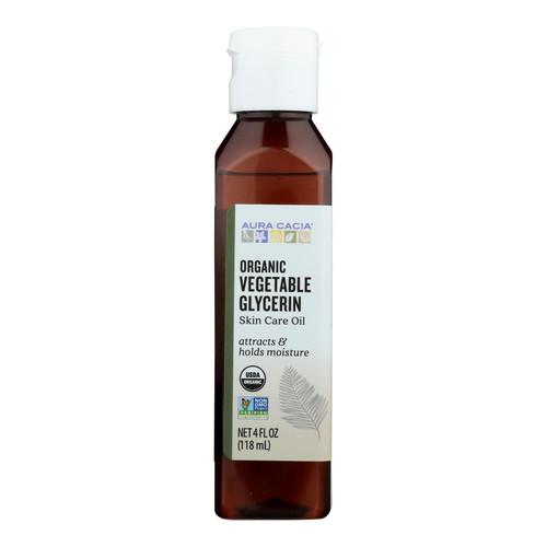 Aura Cacia Skin Care Oil - Organic Vegetable Glycerin Oil - 4 fl oz