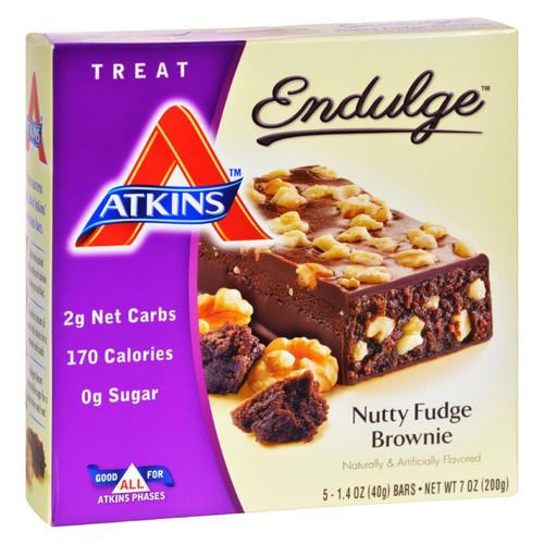 Atkins Endulge Bar Nutty Fudge Brownie - 5 Bars on  Appalachian Organics