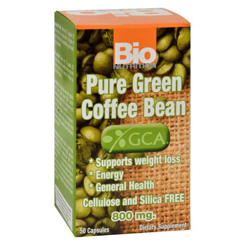 Bio Nutrition Pure Green Coffee Bean - 50 Gelcaps on  Appalachian Organics