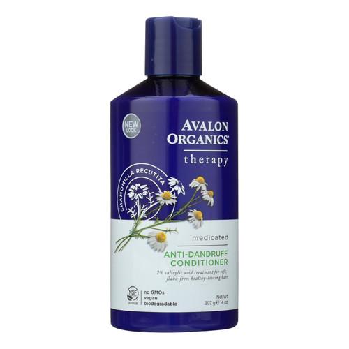 Avalon Active Organics Conditioner - Anti Dandruff - 14 oz