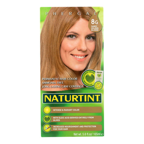 Naturtint Hair Color - Permanent - 8G - Sandy Golden Blonde - 5.28 oz