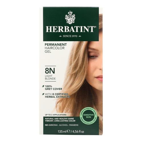 Herbatint Permanent Herbal Haircolour Gel 8N Light Blonde - 135 ml