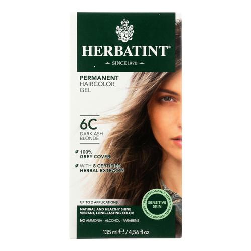 Herbatint Permanent Herbal Haircolour Gel 6C Dark Ash Blonde - 135 ml