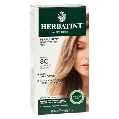 Herbatint Permanent Herbal Haircolour Gel 8C Light Ash Blonde - 135 ml