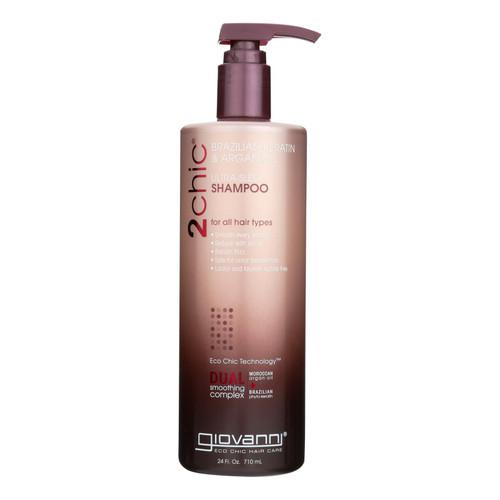 Giovanni Hair Care Products Shampoo - 2Chic Keratin and Argan - 24 fl oz