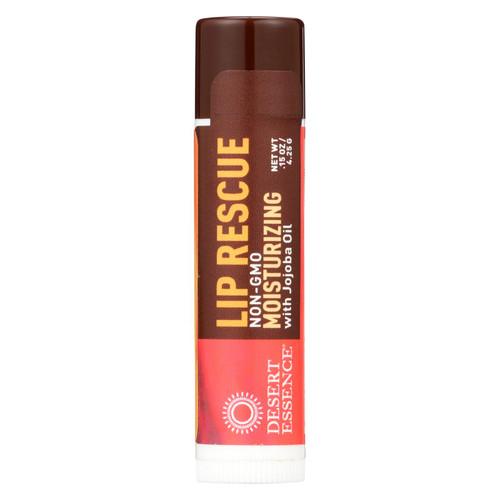 Desert Essence Lip Rescue Display Case - Jojoba and Aloe - Case of 24 - .15 oz