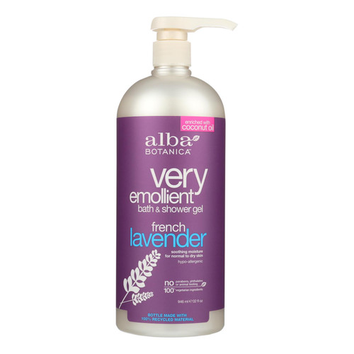 Alba Botanica Very Emollient Bath and Shower Gel French Lavender - 32 fl oz
