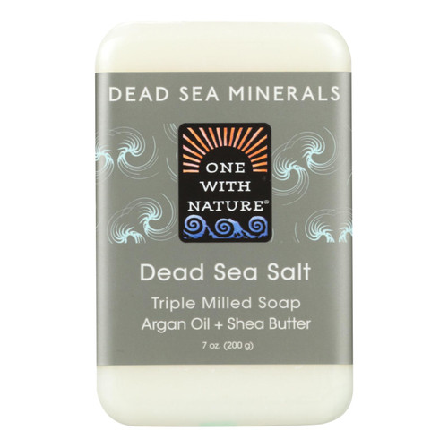 One With Nature Dead Sea Mineral Dead Sea Salt Soap - 7 oz