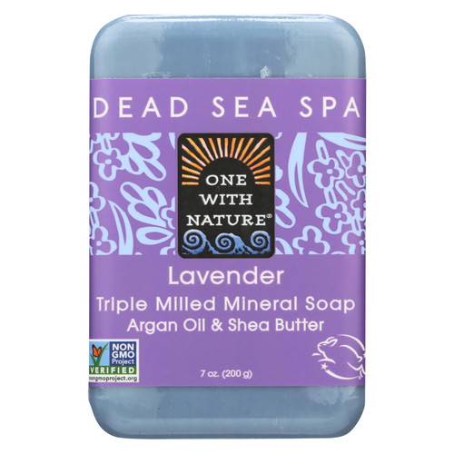 One With Nature Dead Sea Mineral Soap Lavender - 7 oz