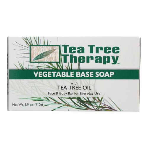 Tea Tree Therapy Vegetable Base Soap with Tea Tree Oil - 3.9 oz