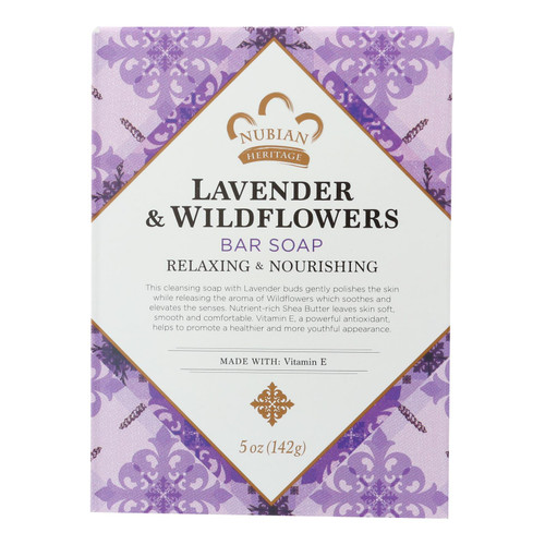 Nubian Heritage Bar Soap Lavender And Wildflowers - 5 oz