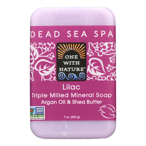 One With Nature Triple Milled Soap Bar - Lilac - 7 oz