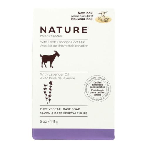 Nature By Canus Bar Soap - Goats Milk - Lavender Oil - 5 oz