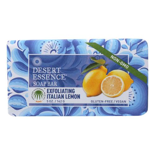 Desert Essence Bar Soap - Exfoliating Italian Lemon - 5 oz