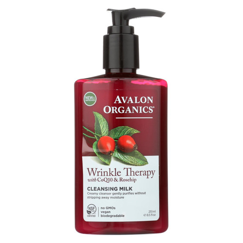 Avalon Organics CoQ10 Facial Cleansing Milk - 8.5 fl oz
