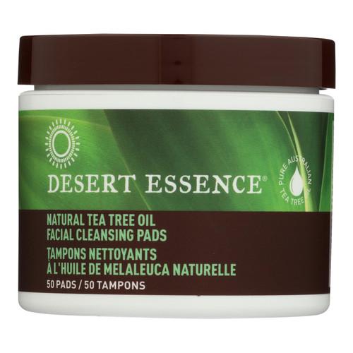Desert Essence Natural Tea Tree Oil Facial Cleansing Pads - Original - 50 Pads