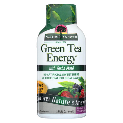 Nature's Answer Green Tea Energy Display Center Case - Case of 12 - 2 oz on  Appalachian Organics